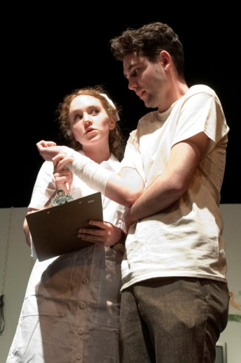 Eileen O'Connor and Matt Rahter performing in One Flew Over the Cuckoo's Nest. Photograph © Lauren Bryant