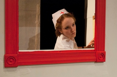 Eileen O'Connor performing in One Flew Over the Cuckoo's Nest. Photograph © Lauren Bryant