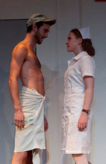 Mark DiStefano and Eileen O'Connor performing in One Flew Over the Cuckoo's Nest. Photograph © Lauren Bryant