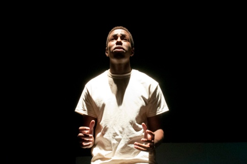 Kyle Malcolm performing in One Flew Over the Cuckoo's Nest. Photograph © Lauren Bryant
