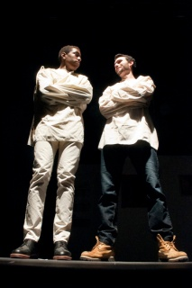 Kyle Malcolm and Mark DiStefano performing in One Flew Over the Cuckoo's Nest. Photograph © Lauren Bryant