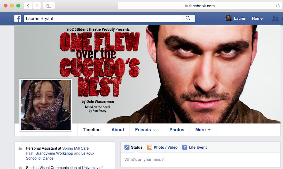 One Flew of the Cuckoo's Nest - Facebook Cover Photo
