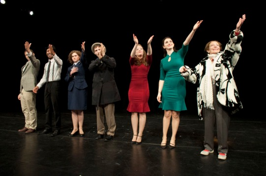 Cast of See, Hear, Taste, Touch takes their final bow
