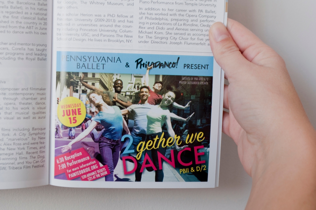 2Gether We Dance - Playbill Ad
