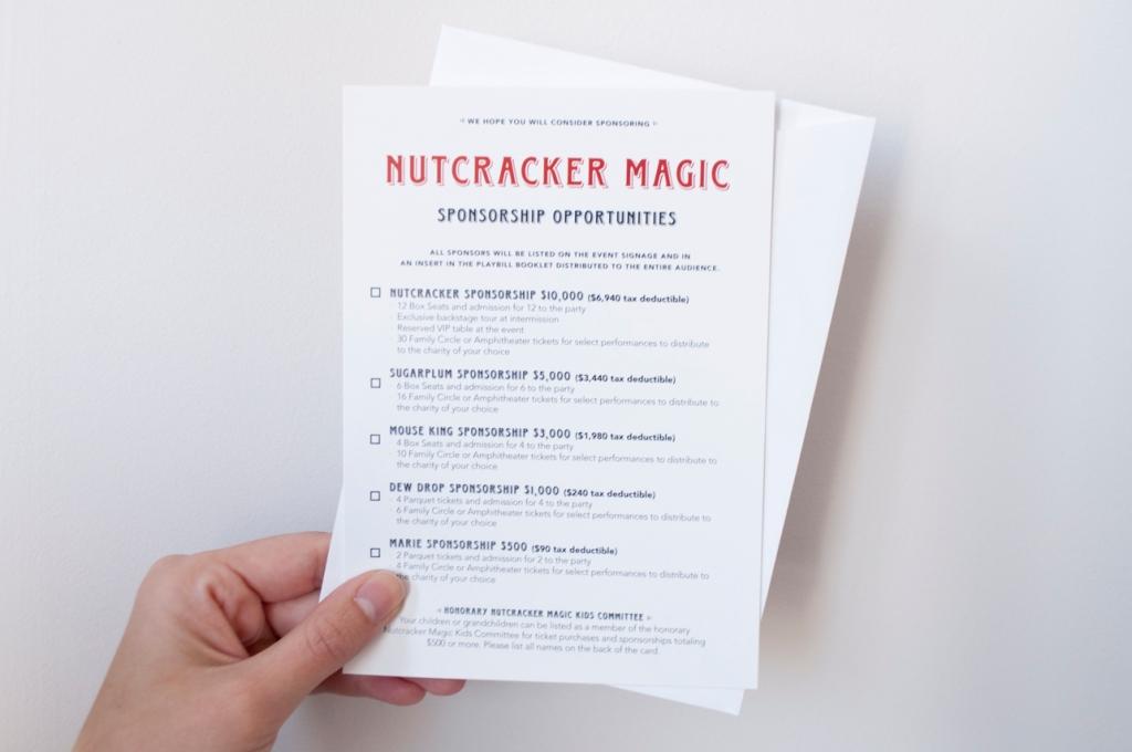 Nutcracker Magic - Reply Card