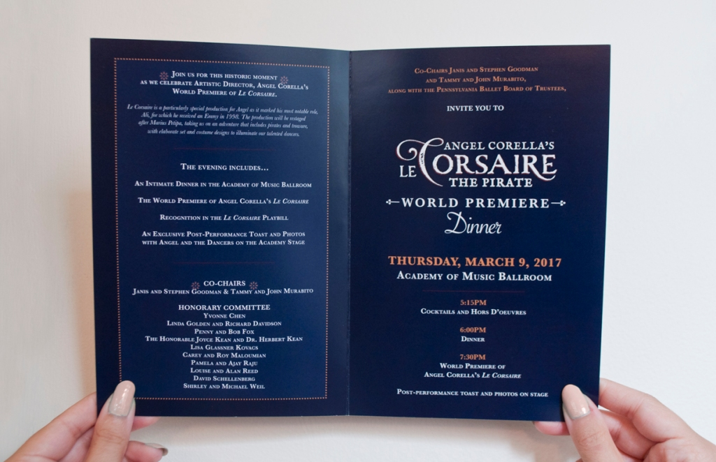 Le Corsaire - Invitation (interior)