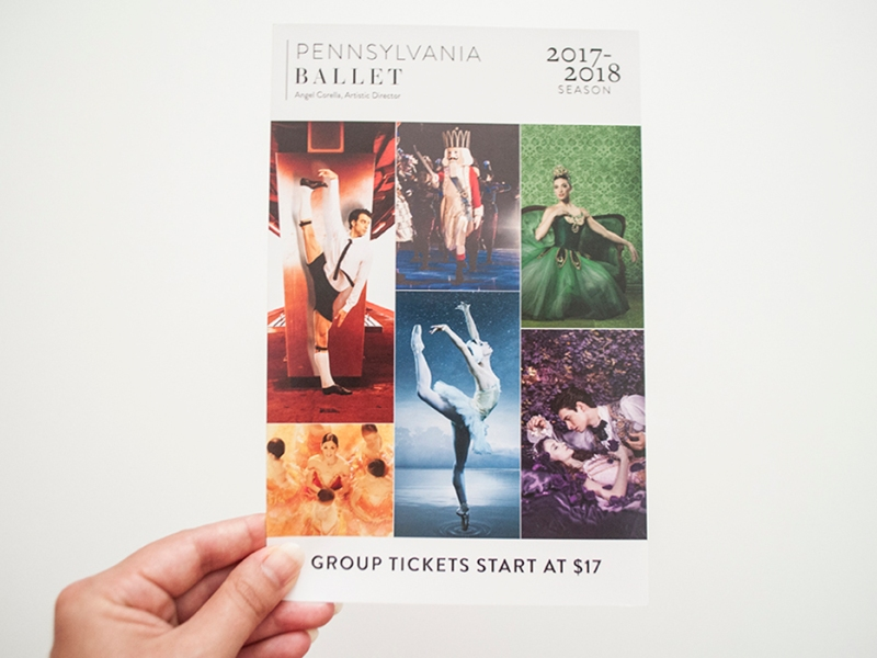 Pennsylvania Ballet 17/18 Season Groups Brochure