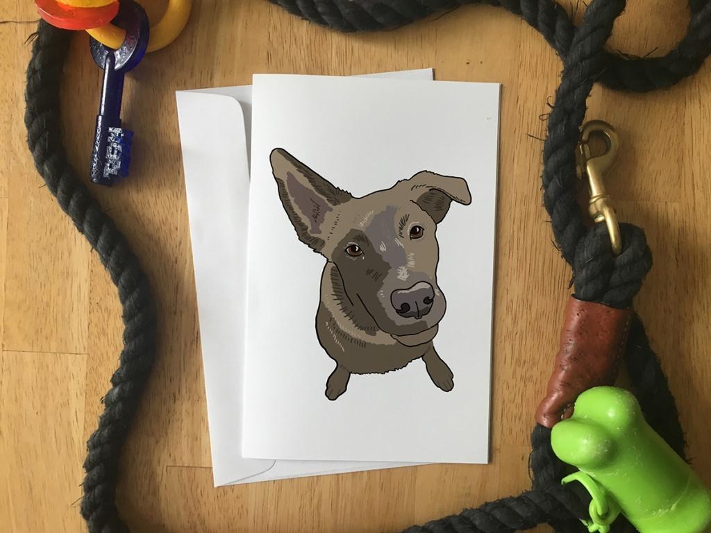 Pet Portrait - Greeting Card of PJ