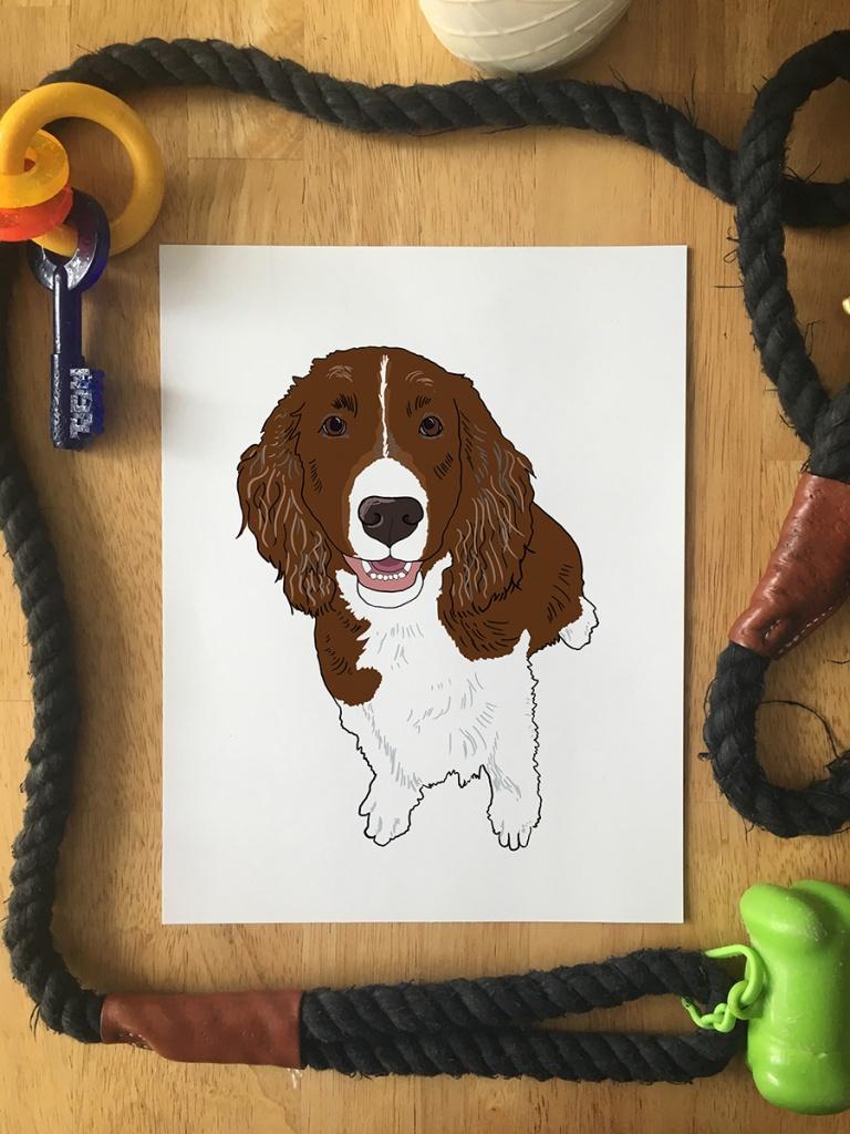 Pet Portrait - Print of Ben Franklin