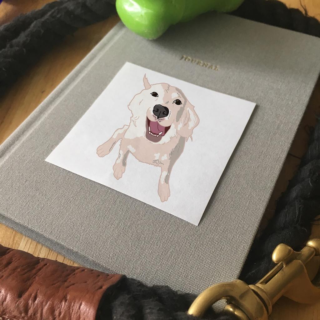 Pet Portrait - Sticker of April