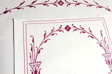 Preliminary sketch of an art deco inspired border