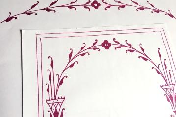 Preliminary sketch of an art deco inspired border