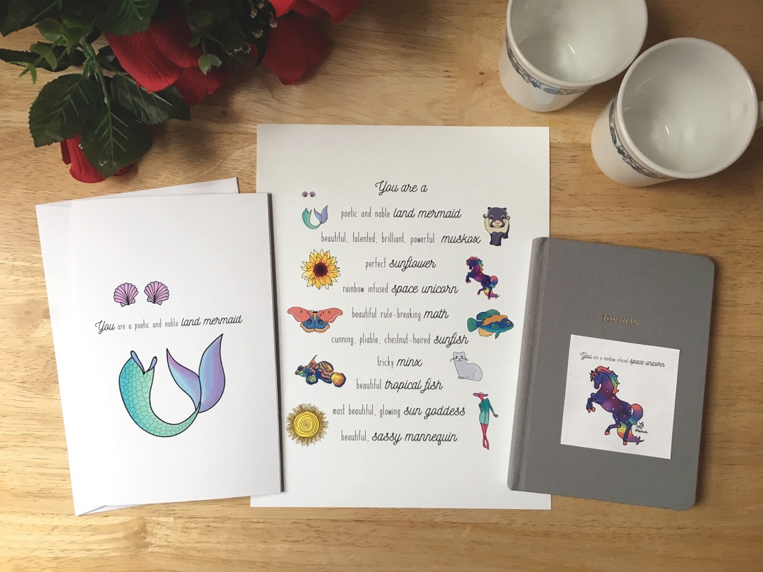 Galentine's Day card, print, and sticker