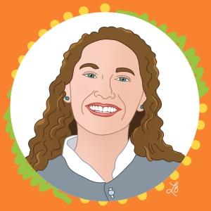 Illustrated Portrait of Lindsey Kerr