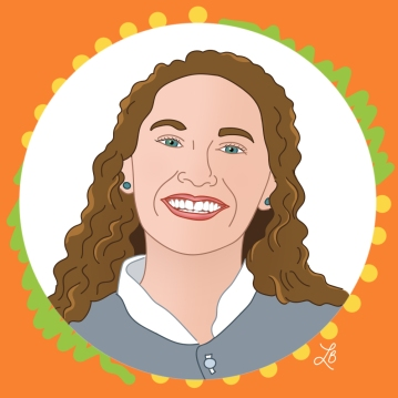 Illustrated Portrait of Lindsey Kerr