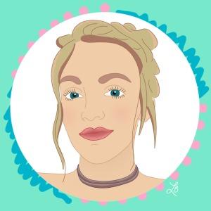 Illustrated Portrait of Chelsey Everest Eeil