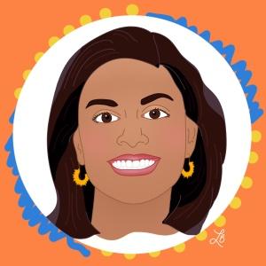 Illustrated Portrait of Neha Agarwal