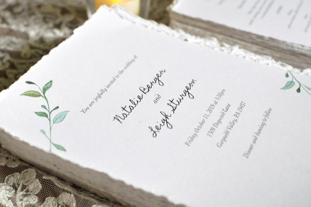 Stack of Wedding Invitations