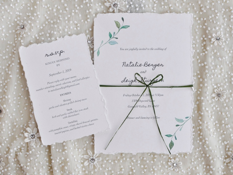 Wedding Invitation and reply card.
